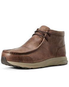 Ariat Men's Spitfire Cowboy Shoes - Moc Toe, Brown, hi-res
