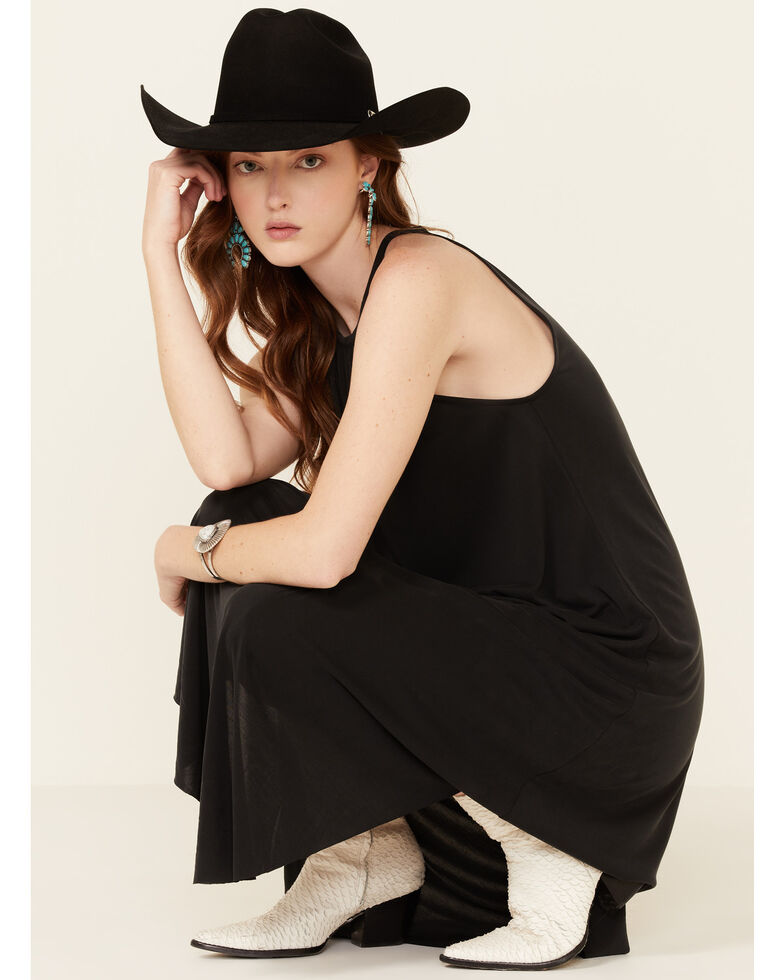 HYFVE Women's Shirttail Midi Dress, Black, hi-res