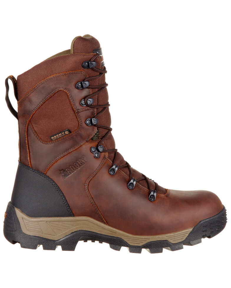 Rocky Men's Sport Pro Waterproof Outdoor Boots - Round Toe, Dark Brown, hi-res