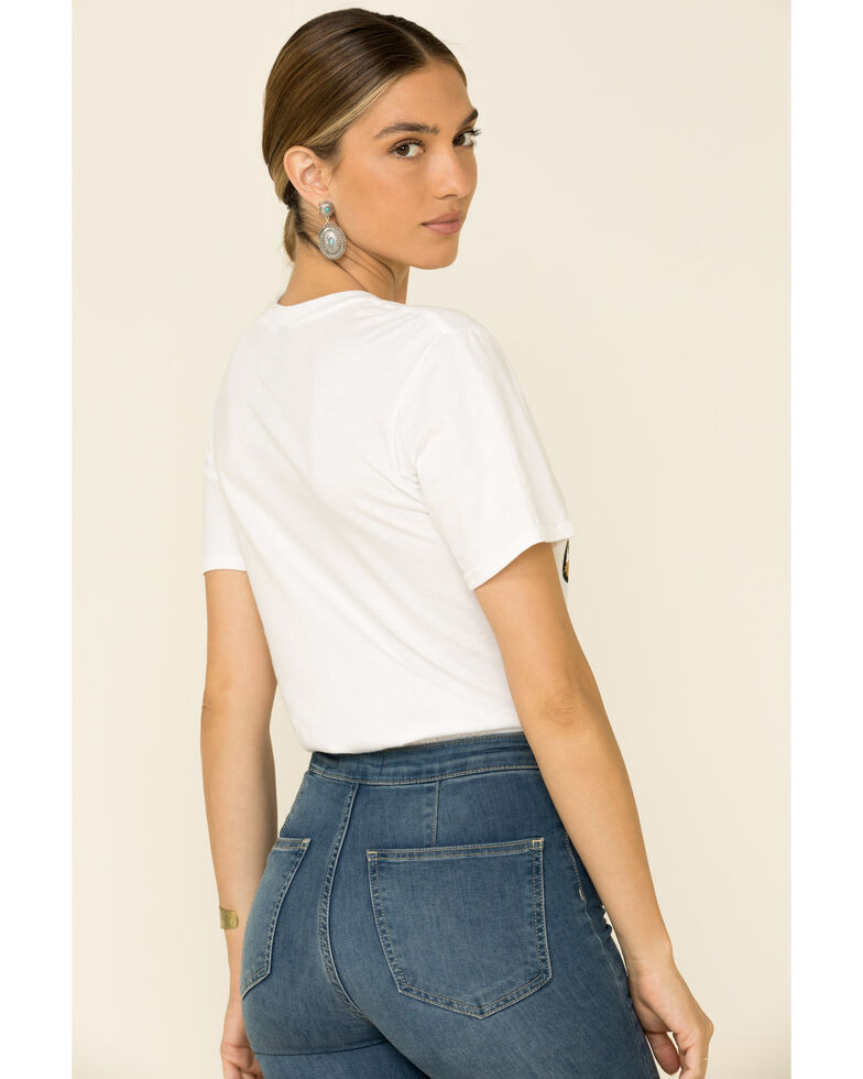Country Deep Women's Bite The Bullet Cropped Graphic Tee , White, hi-res