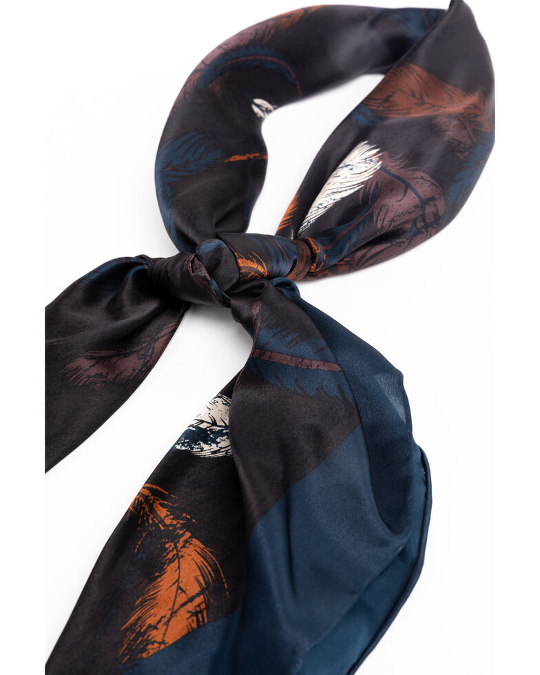 Cody James Men's Silk Feather Bandana , Multi, hi-res
