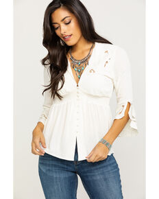 Idyllwind Women's Tambourine Top, Cream, hi-res