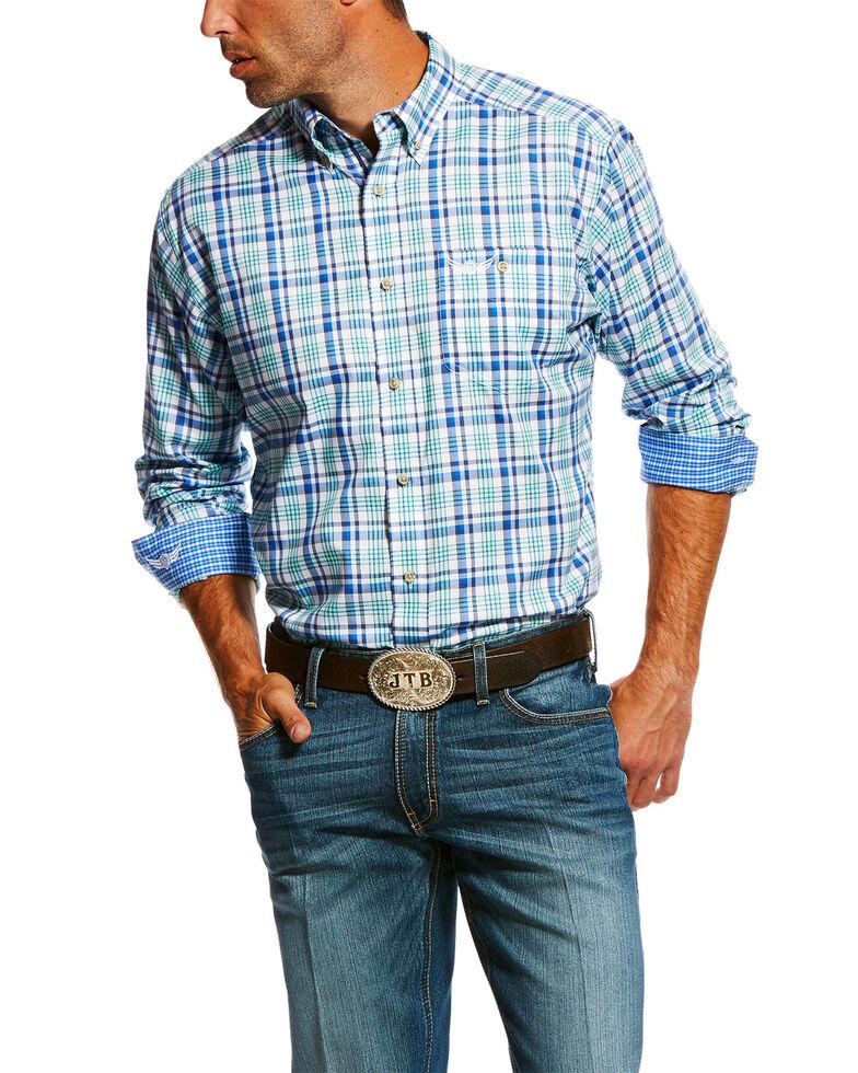 Ariat Men's Skill Large Plaid Long Sleeve Western Shirt , White, hi-res