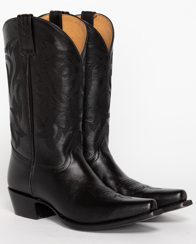 Black Womens Western Cowgirl Cowboy Boot