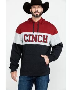 Cinch Men's Color Blocked Fleece Hooded Sweatshirt, , hi-res