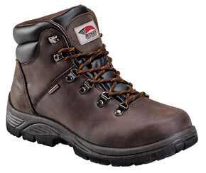 Avenger Men's Brown Waterproof Hiker EH Work Boots - Steel Toe, Brown, hi-res