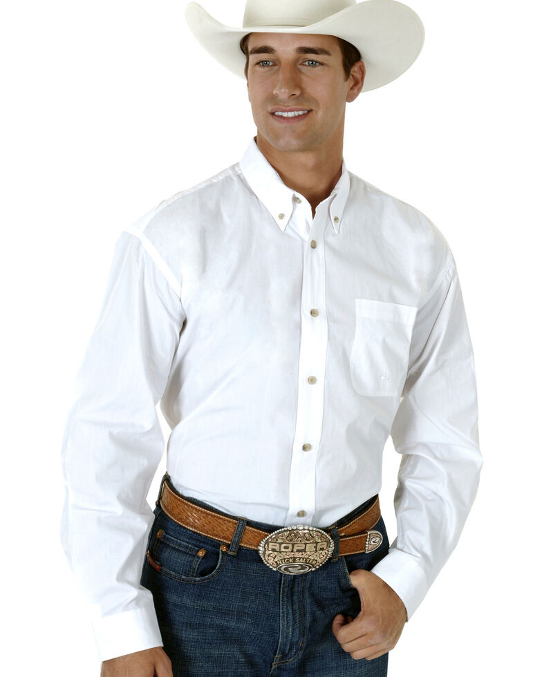 Roper Amarillo Collection Men's Shirt, White, hi-res