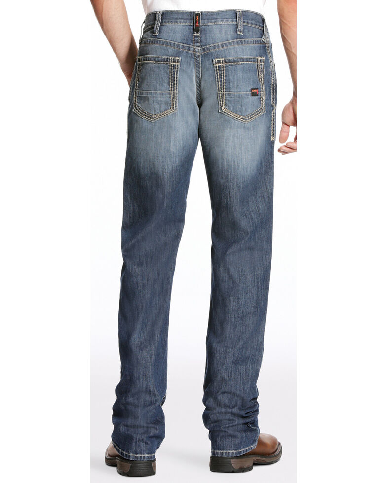 Ariat Men's FR M4 Inherent Boundary Low Rise Bootcut Jeans, Blue, hi-res