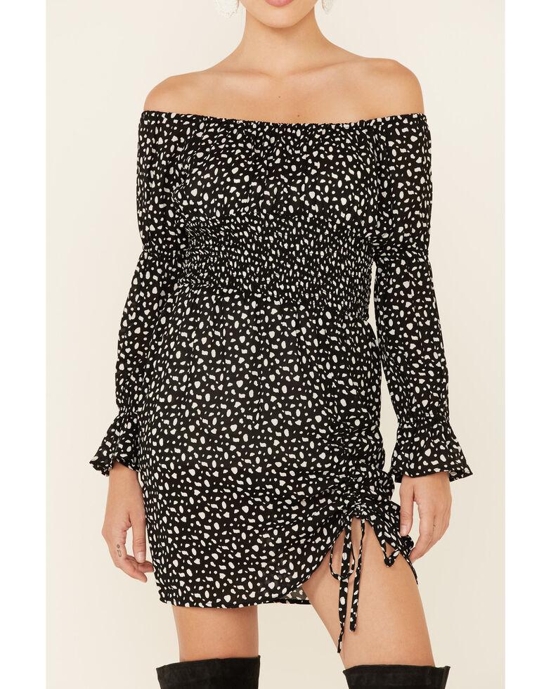 Panhandle Women's Off The Shoulder Smocked Dress, Multi, hi-res