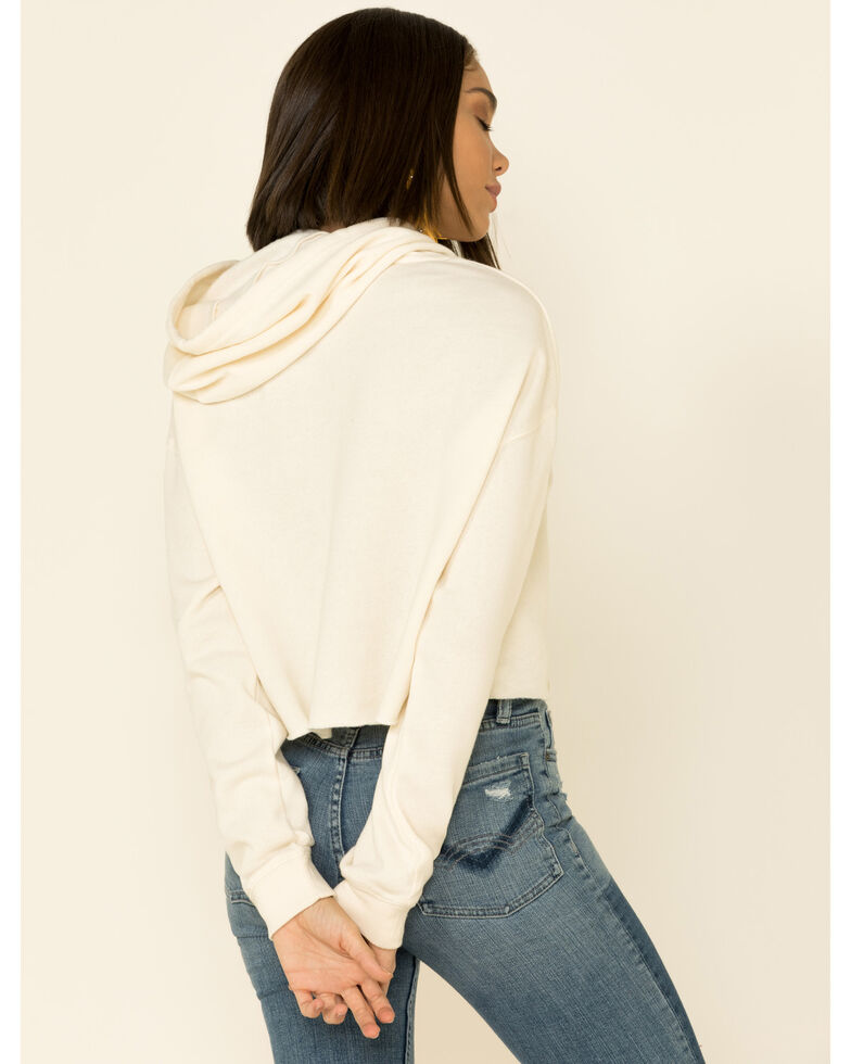 Country Deep Women's Bite The Bullet Cropped Hooded Sweatshirt , Cream, hi-res