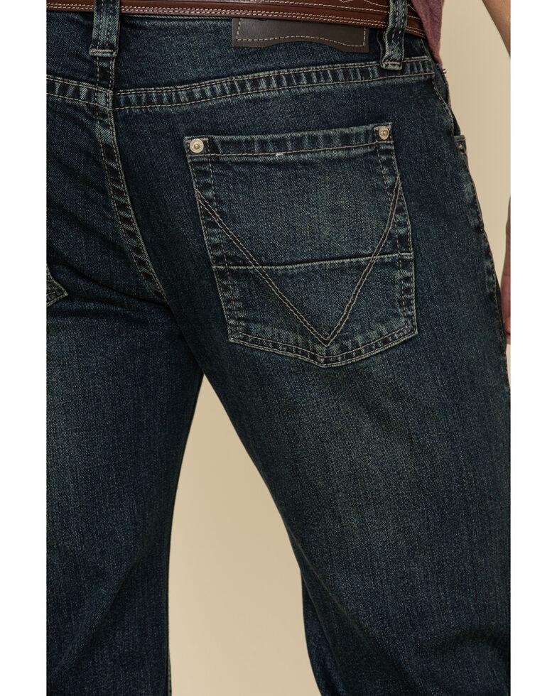 Rock & Roll Denim Men's Vintage 46 Dark Pistol Stretch Straight Jeans , Indigo, hi-res