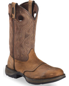 Durango Rebel Men's Brown Saddle Western Boots - Round Toe, Bark, hi-res