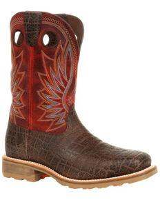 Durango Men's Maverick Pro Western Work Boots - Steel Toe, Red, hi-res