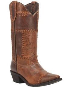 Laredo Women's Whiskey Run Western Boots - Snip Toe, Cognac, hi-res