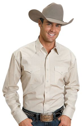 Stetson Snap Check Shirt, Yellow, hi-res