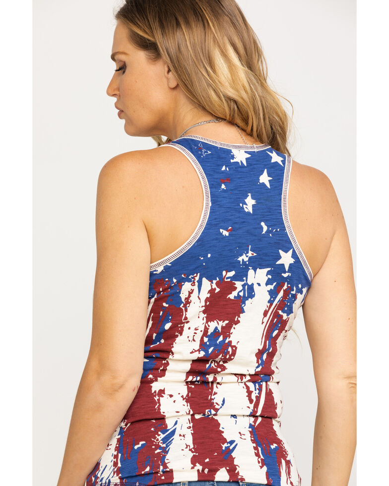 Cowgirl Tuff Women's In God We Trust Tank Top, Red/white/blue, hi-res