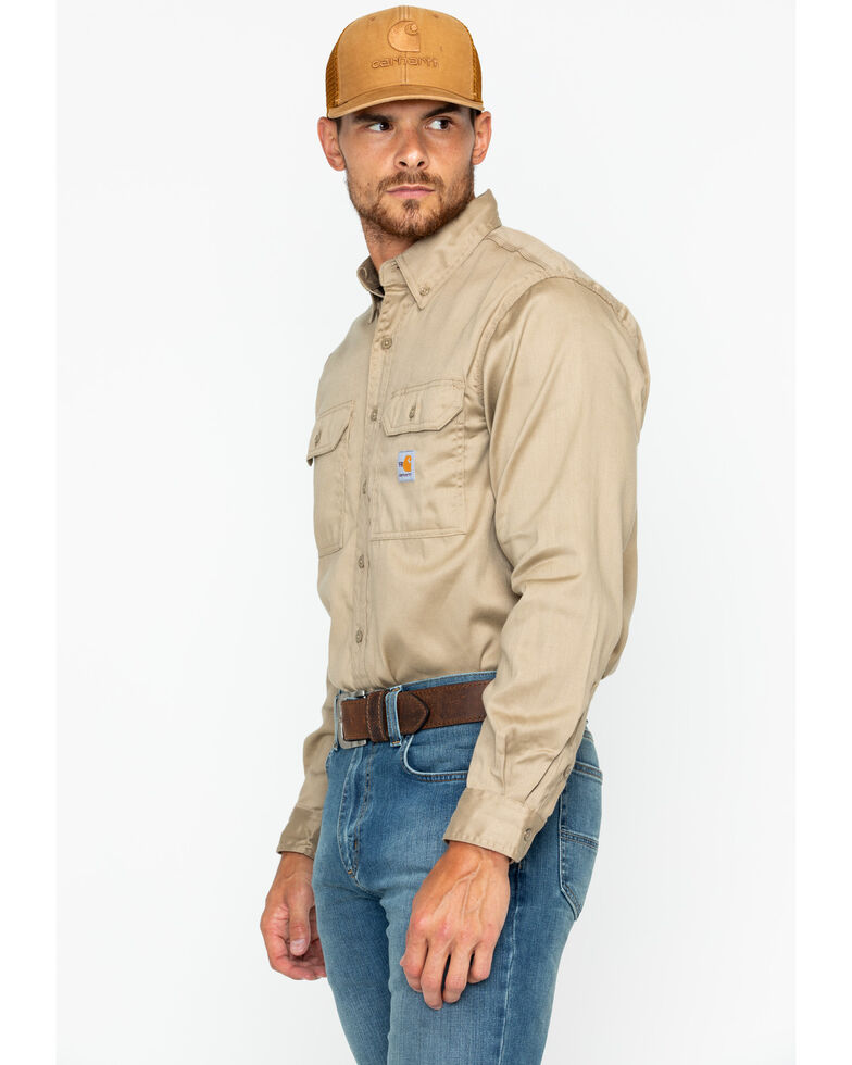 3893f6cba721 Carhartt Flame Resistant Work-Dry® Twill Long Sleeve Shirt - Country ...