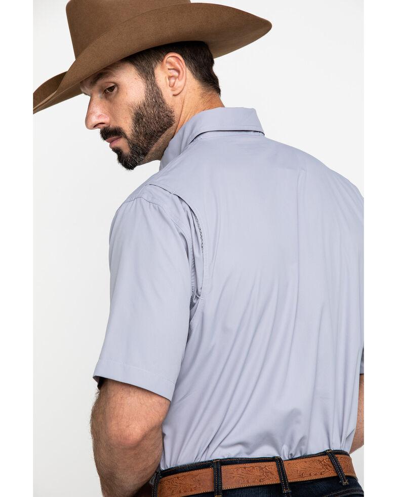 Ariat Men's Steel Solid VentTEK Short Sleeve Western Shirt , Grey, hi-res