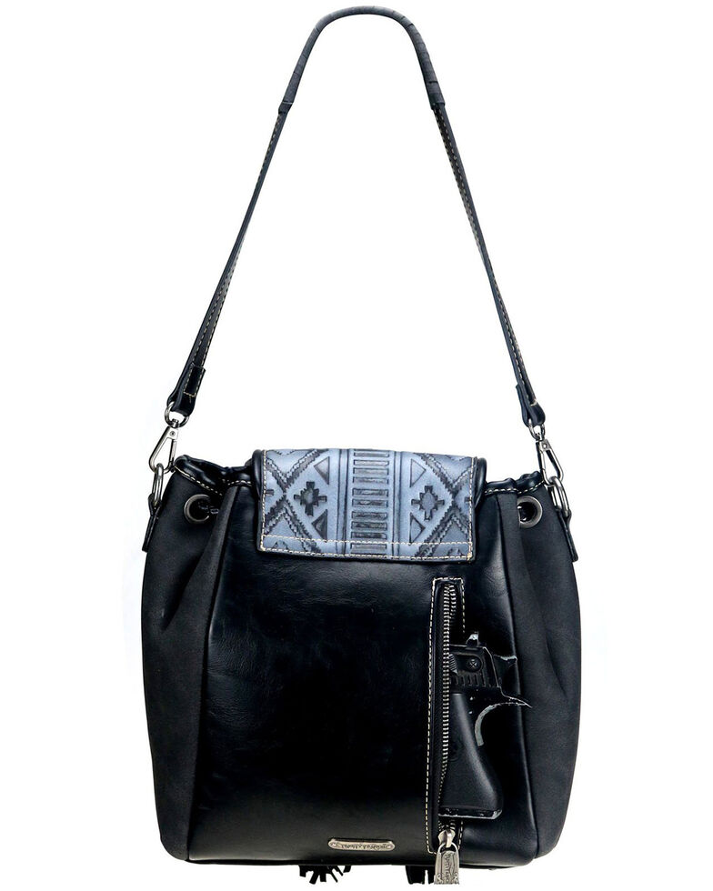 Montana West Women's Trinity Ranch Embossed Crossbody Bag, Black, hi-res