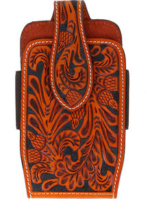 Cody James Men's Embossed Leather Cell Phone Holder, Natural, hi-res