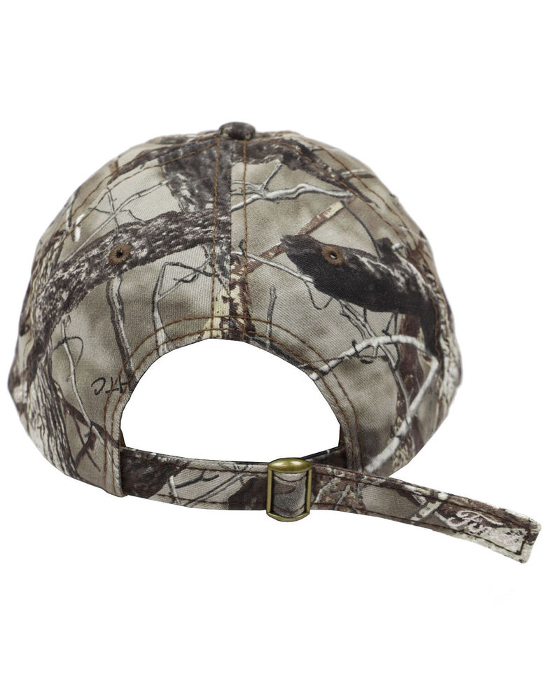 H Bar C Men's Camo Ford Embroidered Logo Ball Cap , Camouflage, hi-res