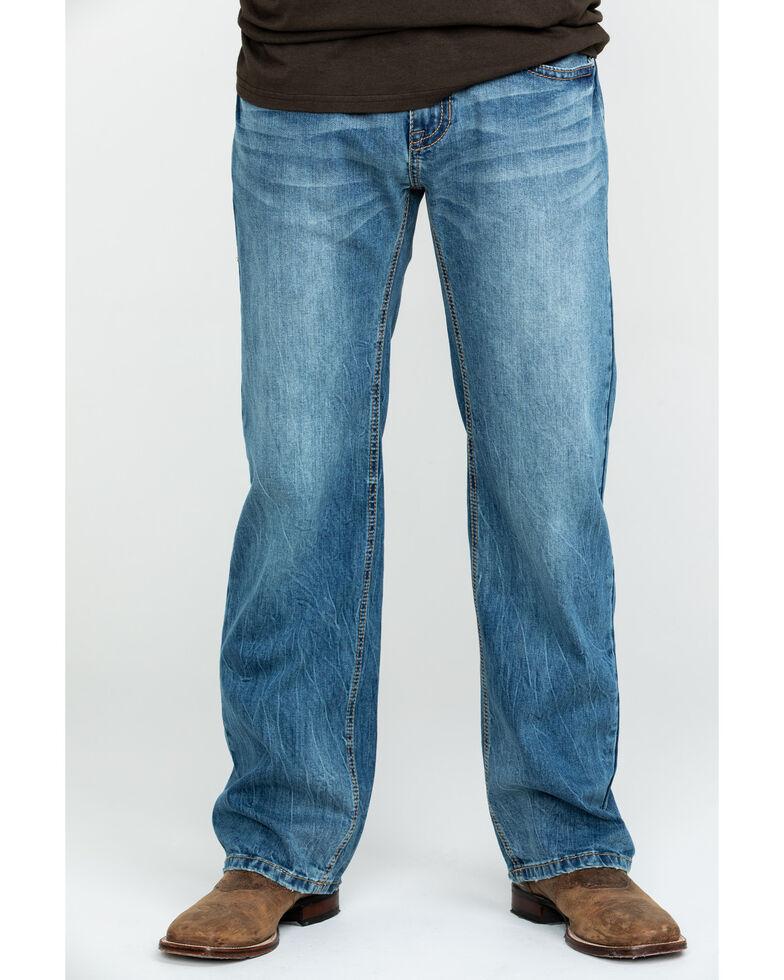 Rock & Roll Denim Men's Pistol Vintage Med Stretch Straight Jeans , Blue, hi-res