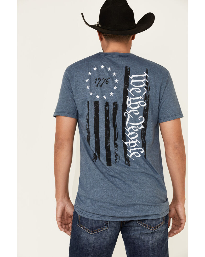 Howizter Men's Betsy We The People Flag Graphic T-Shirt , Blue, hi-res