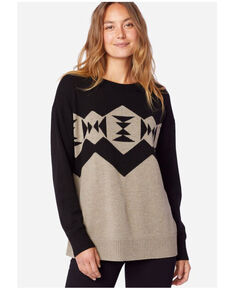 Pendleton Women's Black Sonora Merino Pullover Sweater , Black, hi-res