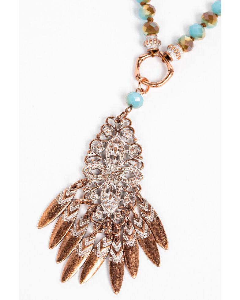 Shyanne Women's Wanderlust Edged Choker Filigree Layered Necklace, Tan/copper, hi-res