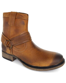 Evolutions Men's Tan Colton II Zipper Boots - Round Toe, Tan, hi-res