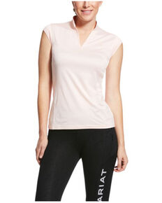 Ariat Women's Sugar Peach Cambria Cap Sleeve Baselayer, Peach, hi-res
