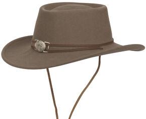 Silverado Unisex Dusty Crushable Wool Western Hat, Mushroom, hi-res