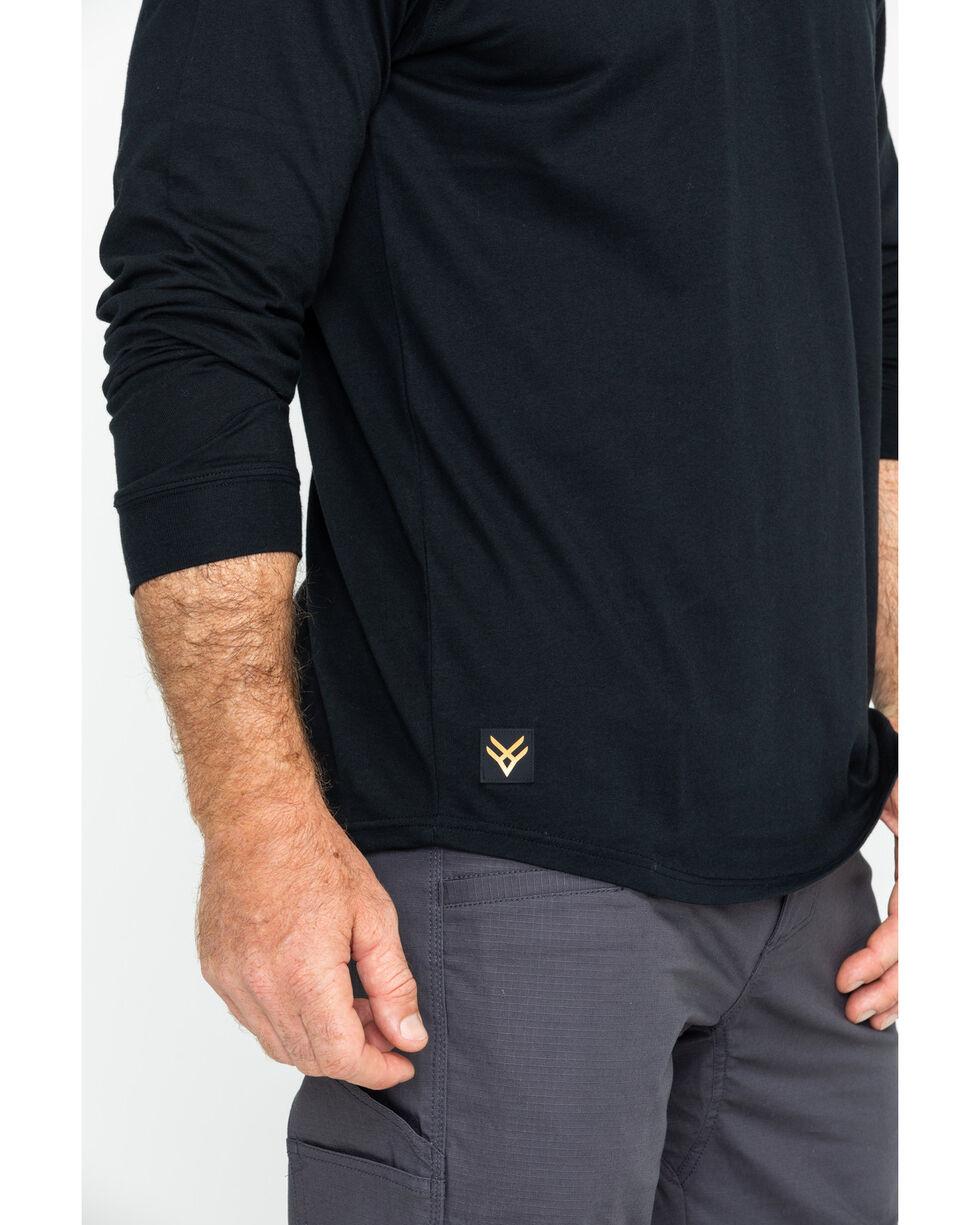 Hawx® Men's Logo Long Sleeve Crew Work Tee , Black, hi-res