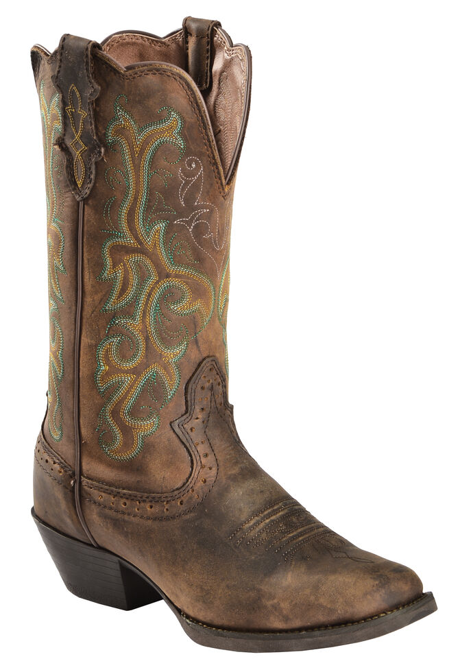 Justin Stampede Women s Durant Cowgirl Boots - Square Toe - Country ... fa4052a94