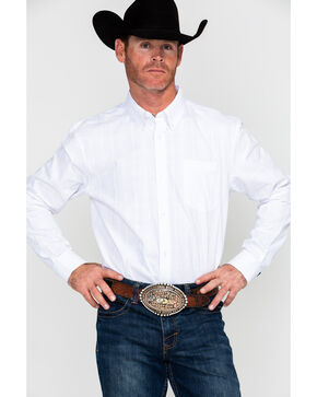 Cody Core Men's Brunch Solid Long Sleeve Western Shirt , White, hi-res