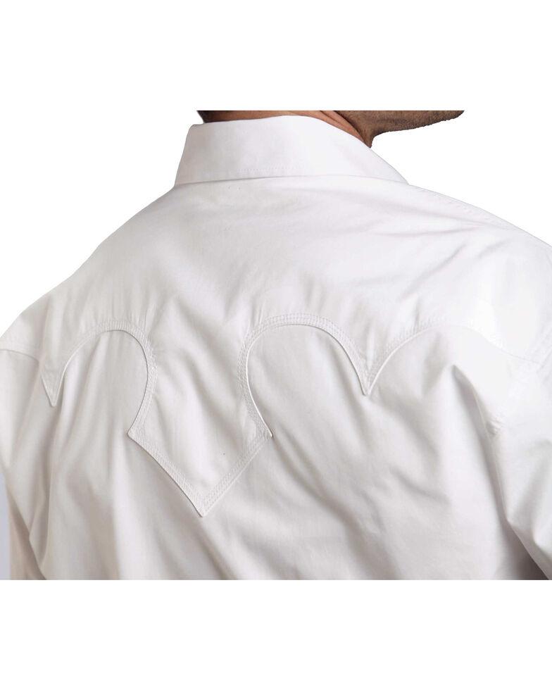 Stetson Men's White Solid Long Sleeve Western Shirt , White, hi-res