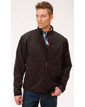 Roper Men's Concealed Carry Soft Shell Jacket, Black, hi-res