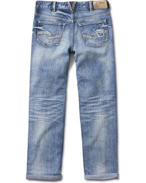 Silver Girls' Cara Medium Wash Boyfriend Jeans - Skinny, Indigo, hi-res