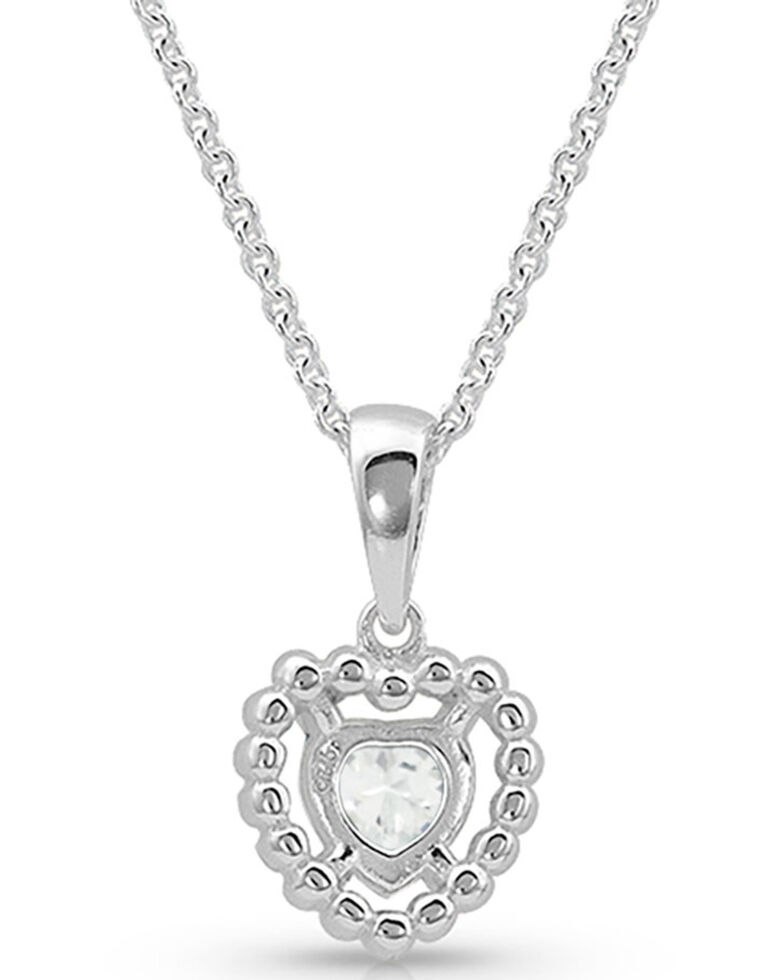 Montana Silversmiths Women's Frozen Heart Necklace, Silver, hi-res