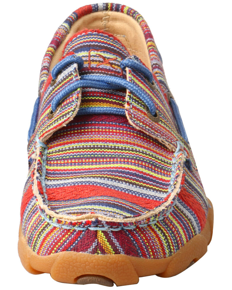 Twisted X Kids' Moccasin Boat Shoes - Moc Toe, Multi, hi-res