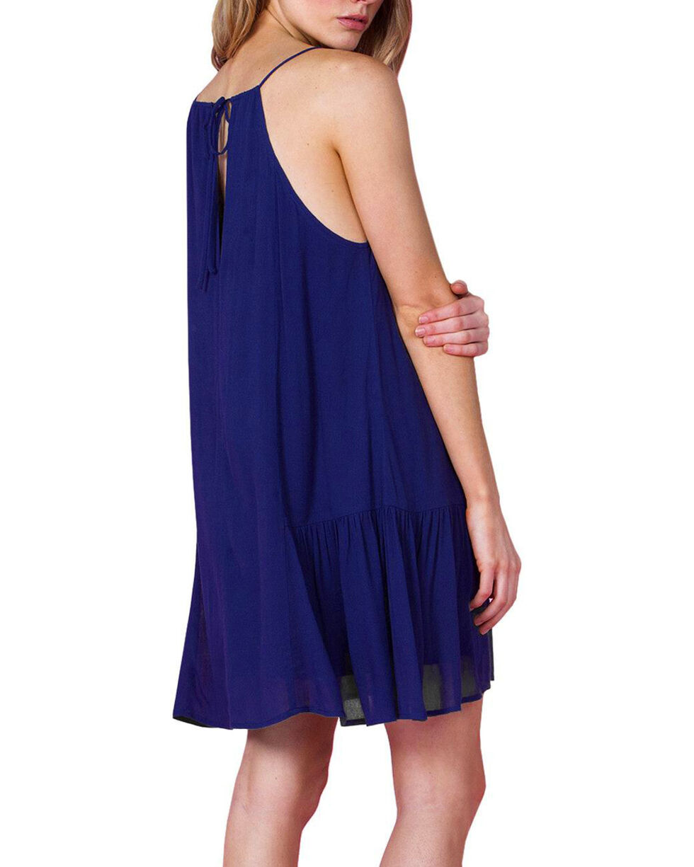Miss Me Women's Navy Take It Easy Embroidered Sundress , Navy, hi-res