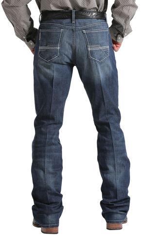 Cinch Men's Ian Mid-Rise Slim Fit Boot Cut Jeans, Indigo, hi-res