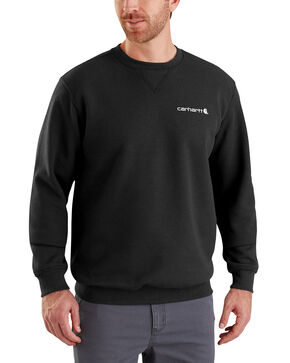Carhartt Men's Midweight Graphic Crewneck Sweatshirt, Black, hi-res