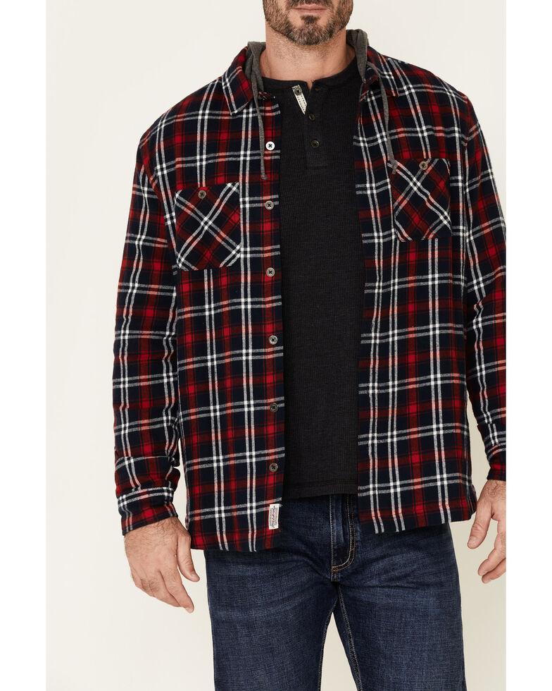 Flag & Anthem Men's Holloway Large Plaid Hooded Shirt Jacket , Multi, hi-res