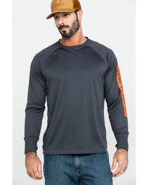 Carhartt Men's Force Birdseye Graphic Long Sleeve Work Shirt - Big , Grey, hi-res
