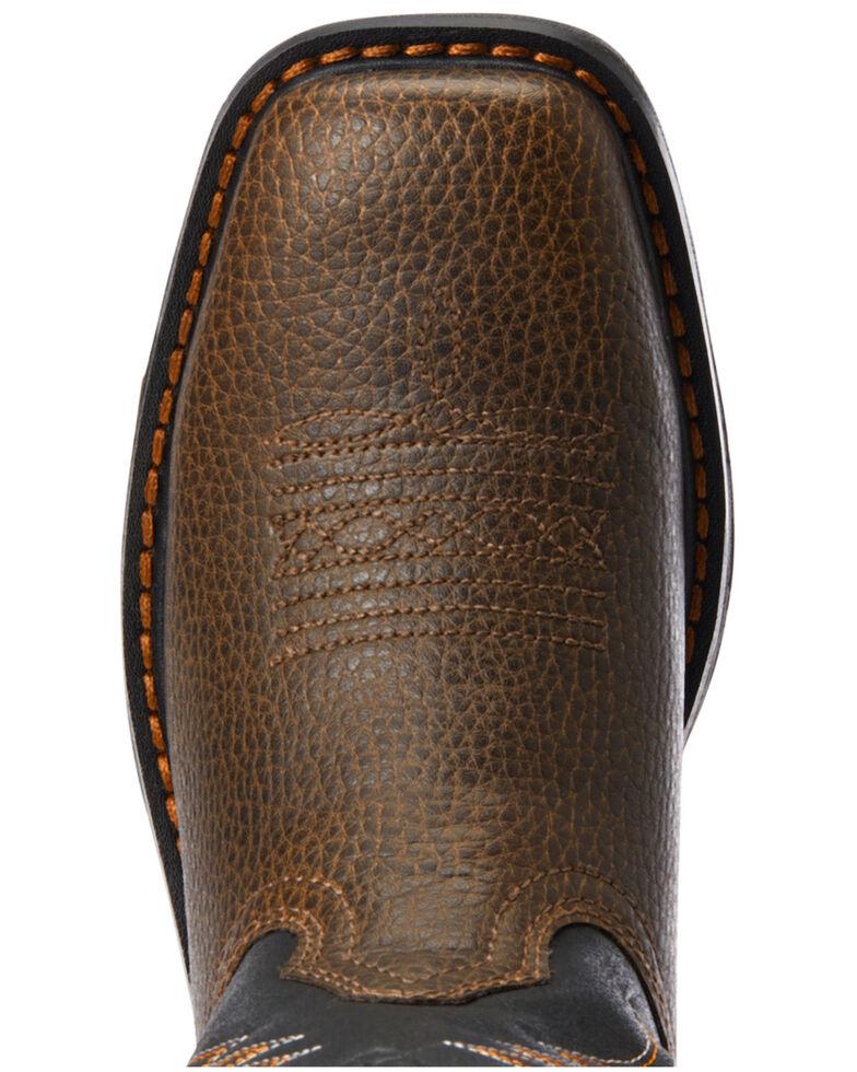 Ariat Youth Boys' VentTEK Western Work Boots - Soft Toe, Brown, hi-res