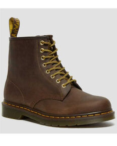 Dr. Martens Men's 1460 Crazy Horse Lace-Up Boots - Round Toe, Brown, hi-res
