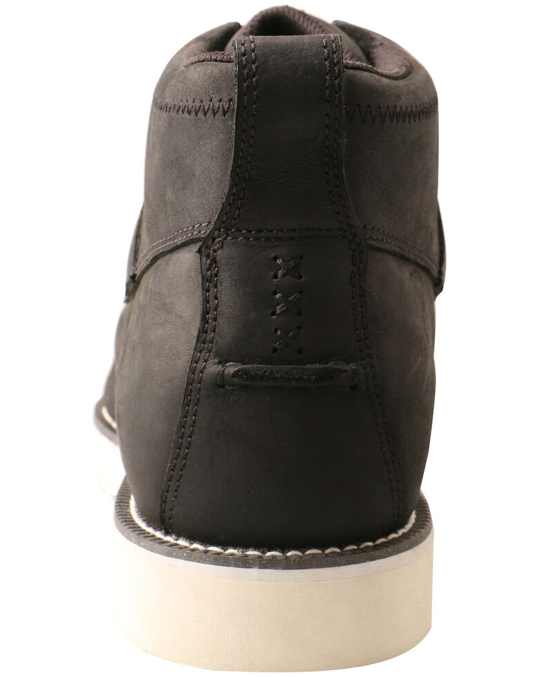 Twisted X Men's Black Crazy Horse Work Boots - Soft Toe, Black, hi-res