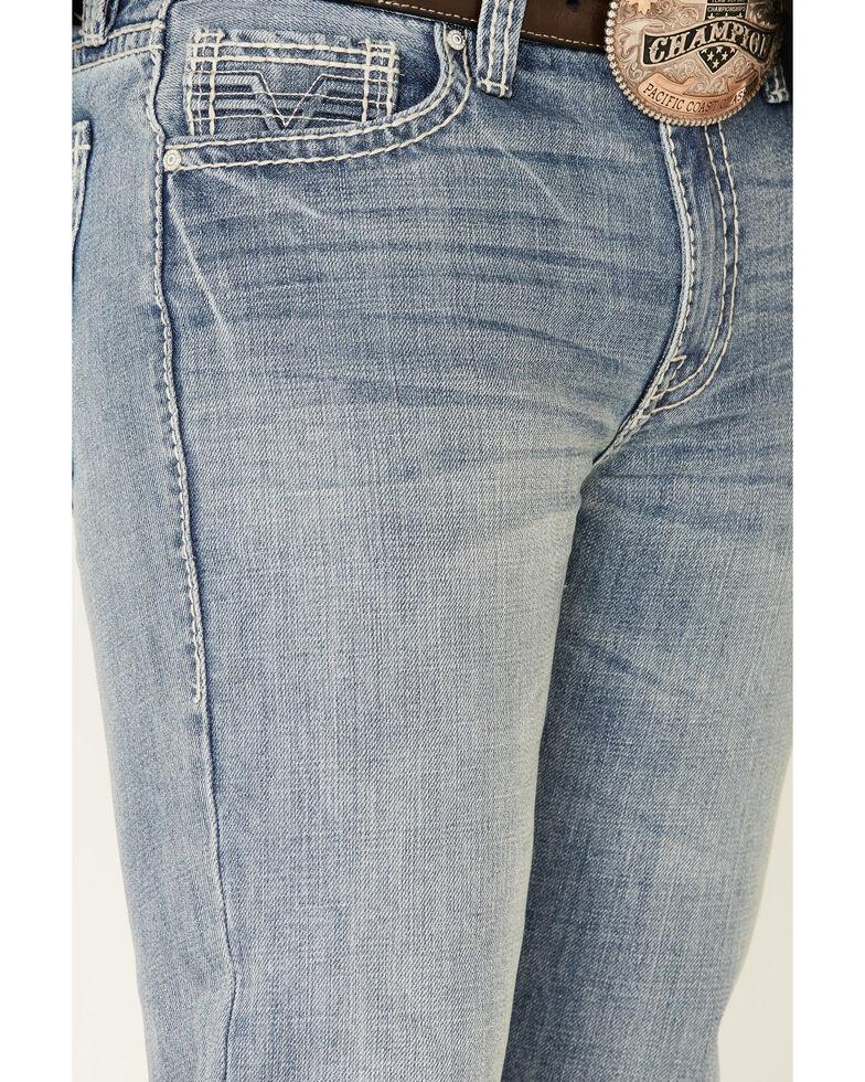 Rock & Roll Denim Men's Med Vintage Double Barrel Relaxed Bootcut Jeans , Blue, hi-res