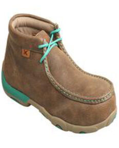 Twisted X Women's Chukka Driving Shoes - Alloy Toe, Brown, hi-res